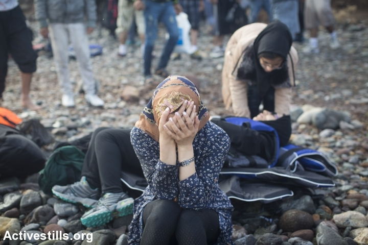 פליטה סורית שהגיעה לחוף לסבוס, יוון (אורן זיו / אקטיבסטילס)