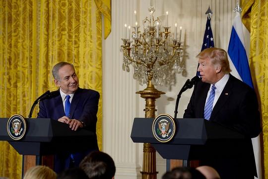 """דונלד טראמפ ובנימין נתניהו, מסיבת עיתונאים בבית הלבן (אבי אוחיון, לע""""מ)"""