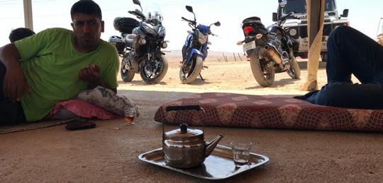 אופנועים בדיוואן בראס אל עוג'א (צילום: בסאם אלמוהור)