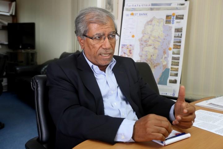 """ד""""ר ח'ליל שקאקי, מנהל המרכז הפלסטיני למחקר מדיניות וסקרים (פלאש 90)"""
