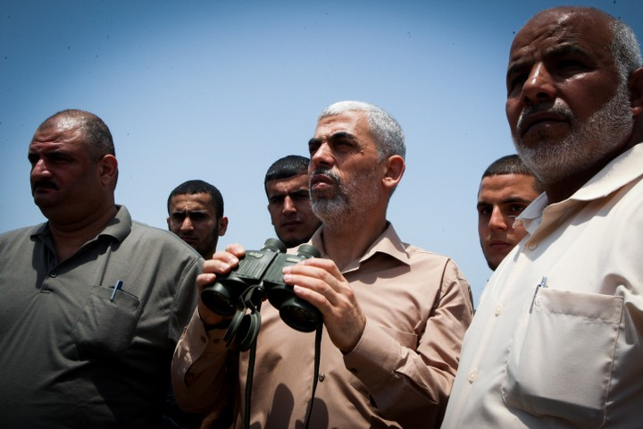 יחיא סנוואר, מנהיג החמאס ברצועת עזה. (צילום: עבד רחים ח'טיב/פלאש90)