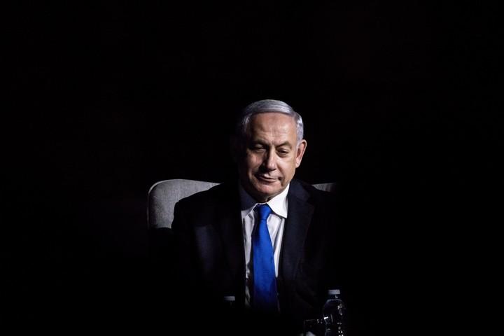 """ראש הממשלה, בנימין נתניהו, באירוע של העיתון """"ישראל היום"""" בירושלים, יוני 2019 (צילום: אהרון קרון/פלאש90)"""