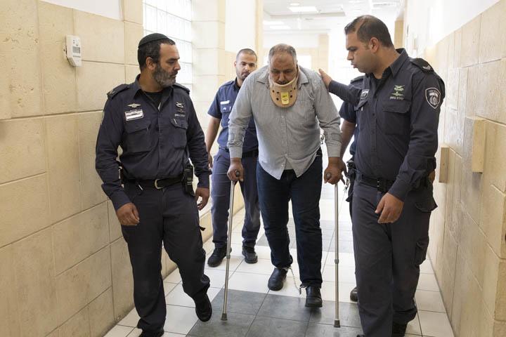 מוחמד אבו חומוס מעיסאוויה, בבית המשפט המחוזי בירושלים (צילום: אורן זיו)