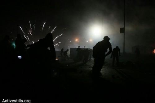 הפגנה בקלנדיה (צילום: ורן זיו/אקטיבסטילס)