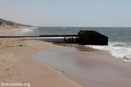 צינור ביוב בים של עזה, 2012 (אקטיבסטילס)