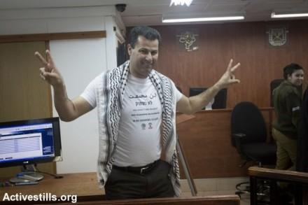 עבדאללה אבו רחמה בבית המשפט בעופר (אקטיבסטילס)