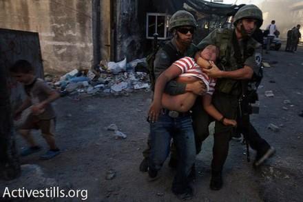 מעצר של ילד בירושלים המזרחית. אילוסטרציה. (טס שפלן/אקטיבסטילס)