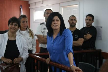חאלדה ג'ראר בבית המשפט הצבאי בעופר (חגי מטר)