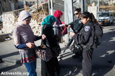 מחסום, ראס אל-עמוד, מזרח ירושלים (יותם רונן / אקטיבסילס)