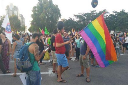 עצרת הקהילה הגאה מול עיריית באר שבע (דני בלר)