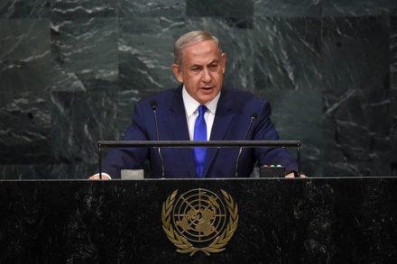 """נתניהו נואם בפני עצרת האו""""ם. 22 בספטמבר 2016 (קובי גדעון/לע""""מ)"""