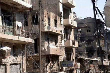 הריסות בעיר חאלב, סוריה (Freedom House)