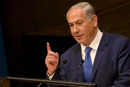 """מנהיג אחד: נתניהו נושא את """"נאום השתיקה"""" בפני מליאת האו""""ם בניו יורק (צילום: לע""""מ)"""