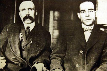 ניקולה סאקו וברטולומאו ואנצטי במשפטם, 1923, מסצ'וסטס