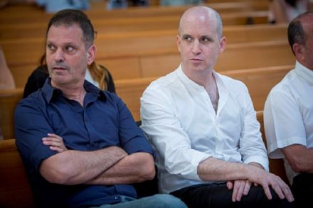 ראשי התאגיד הציבורי אלדד קובלנץ (ימין) וגיל עומר (יונתן זינדל/ פלאש90)