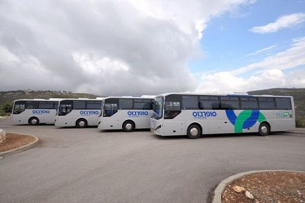 אלימות כלפי משרתי הציבור על הכבישים זוכה להתעלמות כללית, גם מארגוני עובדים אחרים. אוטובוסים של סופרבוס (צילום: יוסי מלכי, ויקימדיה CC BY-SA 4.0)