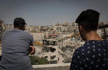 הריסת בית במזרח ירושלים. הצעירים הפלסטינים בעיר מרגישים יתומים (צילום: עפיף עמירה/פלש 90)