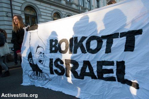 דרך הלחץ הבינלאומי והחרם על ישראל עוד לא מיצתה את עצמה. הפגנה בנורבגיה בתמיכה בחרם (צילום: ראין רודריק ביילר / אטקטיבסטילס)