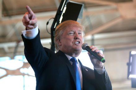 """כל בחירות אמצע בארה""""ב נתפסות כסוג של משאל עם על התמיכה בנשיא המכהן באותו זמן. הנשיא האמריקאי דונלד טראמפ (גייג' סקידמור, פליקר CC BY-SA 2.0)"""
