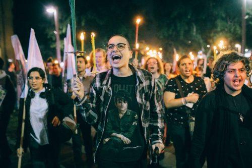 יום הזיכרון הטרנסי: כמאתיים צעדו עם לפידים נגד השנאה