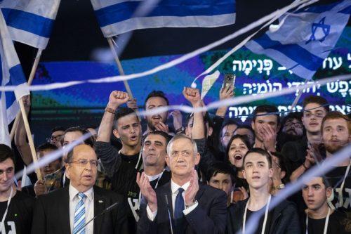 האווירה היתה של רצון להחליף שלטון. אירוע ההשקה של המפלגה של בני גנץ אתמול (צילומים: אורן זיו / אקטיבסטילס)