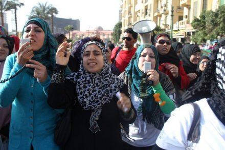 יום האשה במצרים, מרץ 2011. (צילום: אל ג'זירה אנגלית, פליקר CC BY-SA 2.0)