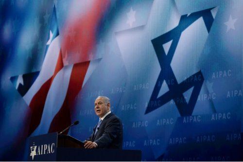"""היהודים באמריקה משפיעים על ההוויה הישראלית המכתיבה את חיי. נתניהו בנאום בפני ועידת אייפ""""ק (צילום: חיים זך / לע""""מ)"""