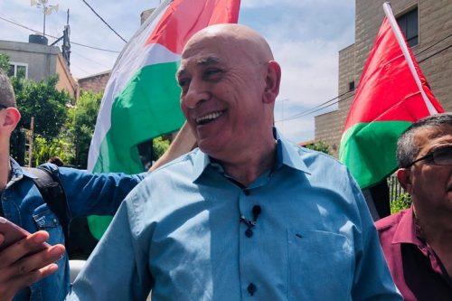 """שלטונות שב""""ס העבירו אותו מכלא לכלא ארבע פעמים. בסאל גטאס לאחר שחרורו הבוקר מהכלא (צילום: דארין טאטור)"""