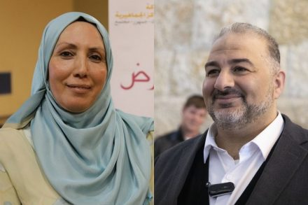 """עושים היסטוריה ומשנים את פני התנועה האיסלאמית - יו""""ר רע""""מ מנצור עבאס ואימאן ח'טיב יאסין (צילומים: אורן זיו, דוברות רע""""מ)"""