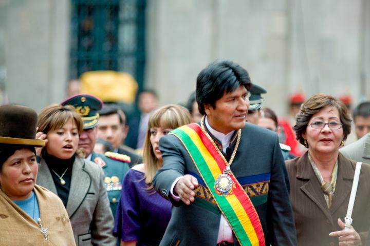 רשם הצלחות מרשימות בצמצום העוני, אבל נדבק לכיסא נגד החוקה שהוא עצמו יזם.נשיא בוליביה אוו מוראלס (צילום: Joel Alvarez)